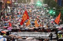 Masivo rechazo al 155 en el País Vasco