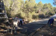 Mejoran los caminos de la ADF Sant Jordi de Tarrés