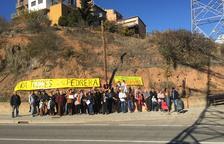 Protesta contra la línia d'alta tensió a Tremp