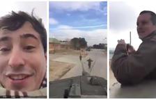 Dos civils amenacen Iglesias i Puigdemont a sobre d'un tanc
