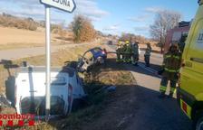 Tres ferits, un de greu, en una col·lisió entre dos vehicles a Olius