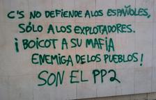 Ciutadans denuncia pintades a la seu de Lleida