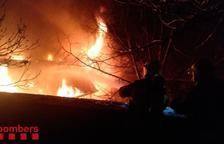 Incendio en un tejado en Bellver de Cerdanya