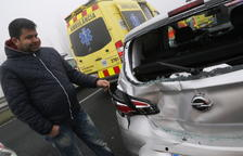 Col·lapse a l'A-2 al Pla per nou xocs a causa de la boira amb trenta vehicles i dinou ferits
