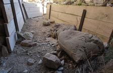 Montgai precinta el acceso a las trincheras tras los actos de vandalismo
