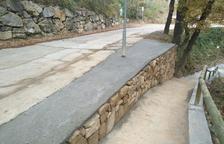 Peramola millora murs i cunetes del Camí de les Fonts