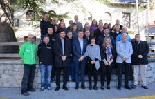Foto de família de la presentació de la nova temporada del programa Esport Blanc