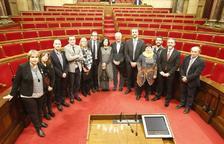 Els diputats per Lleida, després de la sessió constitutiva del Parlament