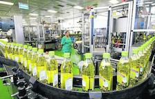 Cadena de envasado del aceite de oliva en una planta del Grupo Borges.
