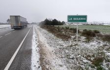 La nieve viste de blanco el sur de la Segarra