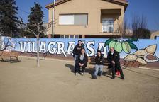 Vilagrassa estrena mural a la plaça del Filador