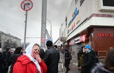 Al menos 64 muertos tras incendiarse un cine en un centro comercial de Siberia
