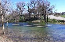 El pozo de Madern de Vicfred se convierte en un lago tras las lluvias