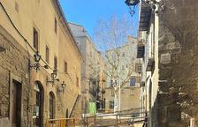 Las obras que se están llevando a cabo en la calle Sant Miquel.