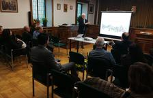La presentació del nou web als empresaris de Vielha.