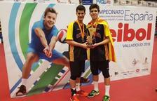 Dídac Salas i Roger Viñes, campions d'Espanya cadet