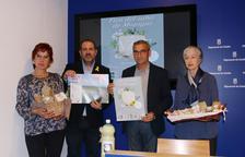 L'alcalde de Montgai, Jaume Gilabert (segon per la dreta), durant la presentació de la X Fira Net.