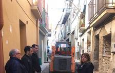 Reforma en un tramo de la calle del Portal de Aitona