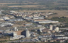 Imatge aèria del polígon industrial El Segre de Lleida.