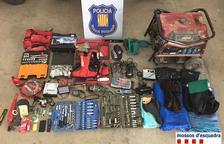 Objectes recuperats pels Mossos d'Esquadra