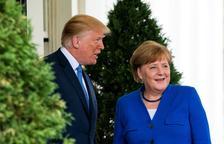 Trump i Merkel reprenen relacions dies abans que els EUA imposin els aranzels