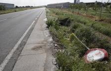 Cinco heridos leves tras una salida de vía en Menàrguens