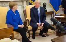 Merkel, Macron i May fan front a Trump