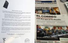 ETA certifica 'el final de su trayectoria' en una declaración que no reconoce el daño causado