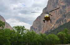 Rescatada una mujer herida en el Congost de Mont-rebei