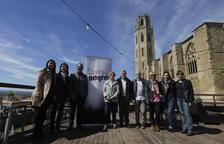 La presentació va tenir lloc ahir a la terrassa del restaurant 1203 de la Seu Vella de Lleida.