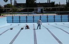 Últimos preparativos en las piscinas de les Borges Blanques