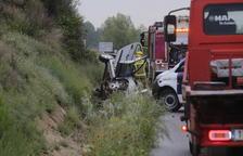 Una vecina de La Sentiu muere en un choque entre tres vehículos en la C-12 en Corbins