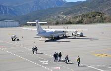Un dels avions comercials que ha operat a la Seu.
