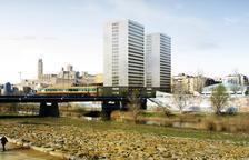 Imatge virtual del projecte de les torres al costat de la Llotja.