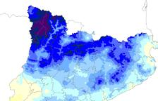 Mapa de precipitació acumulada.