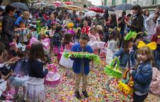 Els nens participants a la festa del Corpus a Guissona.