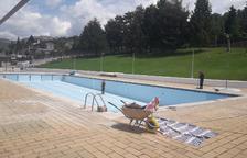 Oliana ultima les obres de millora de la piscina municipal