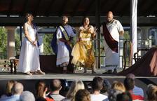 Un moment de la representació 'Catalans a la romana' que es va fer a la tarda a Albesa.