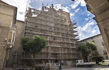 Santa Maria de Guissona, en obras ante el riesgo de desprendimientos