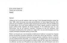 """Torra, Puigdemont i Mas demanen per carta al rei que opini sobre la """"repressió"""""""