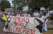 Protesta a Mèxic contra la separació de les famílies, dijous.