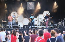 Els Amics de les Arts, estrellas del Mon Amour Mollerussa Summer Festival, ayer por la tarde.