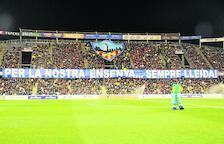 El Camp d'Esports, durant el partit de Copa davant de l'Atlètic.