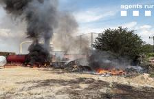 Sofocan un incendio en Torregrossa