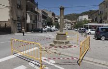 Investigan los destrozos causados en la Creu de Sant Ramon de Torà