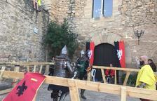 La plaça del Castell de Montsonís va acollir dissabte la segona edició d'aquests combats.