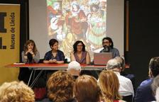 Carmen Berlabé, Carmen Morte, Elena Toló i Albert Velasco, ahir a la jornada al Museu de Lleida.