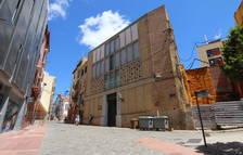 Imatge d'ahir de l'edifici de la parròquia de Sant Andreu, al carrer Cavallers.