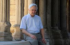 Tomás Chicharro, el jueves en la Seu Vella, que fue a un campo de concentración en la postguerra.
