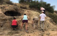 Excavación en un nido de ametralladoras de la Guerra Civil en Seròs